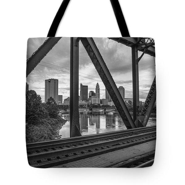 Columbus Train Tracks  Tote Bag