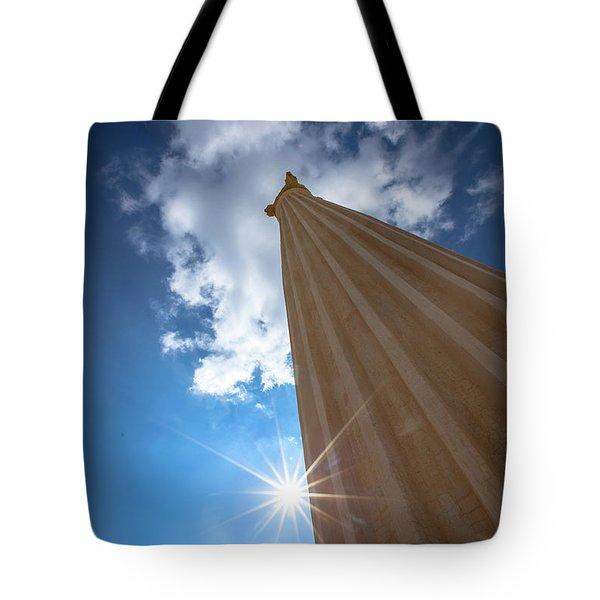 Column To Sky Tote Bag