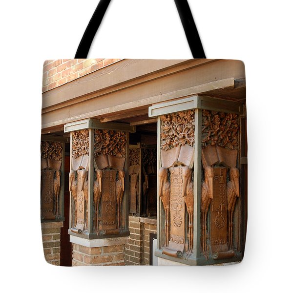 Columns At Frank Lloyd Wright Studio Tote Bag