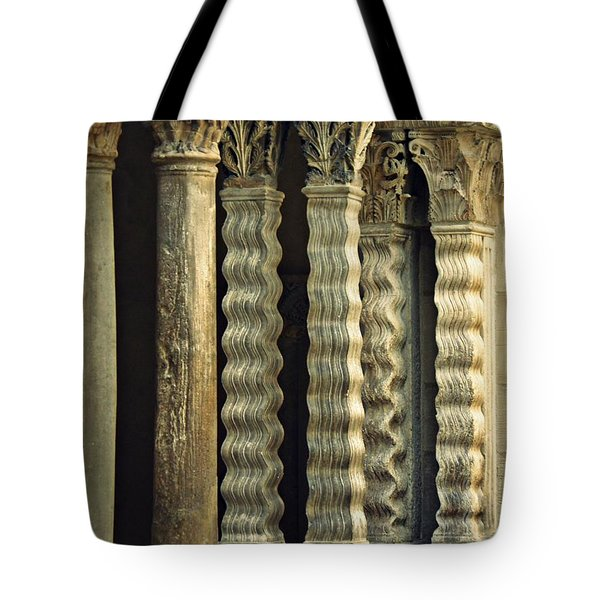 Columns At The Cloisters 3     Tote Bag