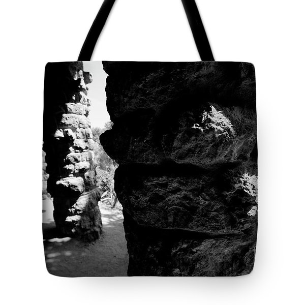 Columns Of The Park Guell Tote Bag