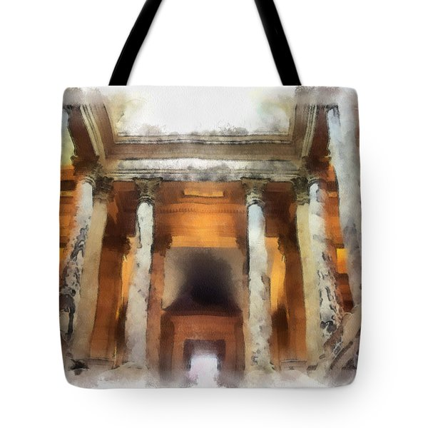 Columns Tote Bag by Paulette B Wright