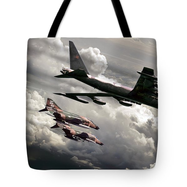 Combat Air Patrol Tote Bag by Peter Chilelli