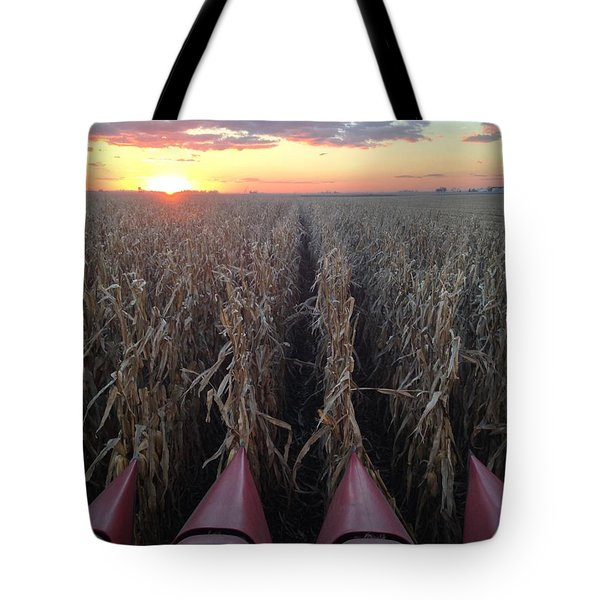 Combine Sunset H Tote Bag