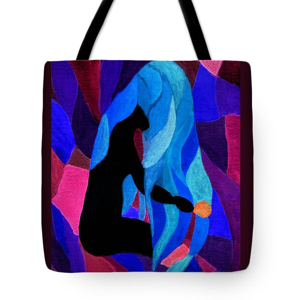 Combing The Waves Dark Tote Bag by Paula Ayers