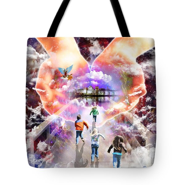 Come As A Child Tote Bag by Dolores Develde