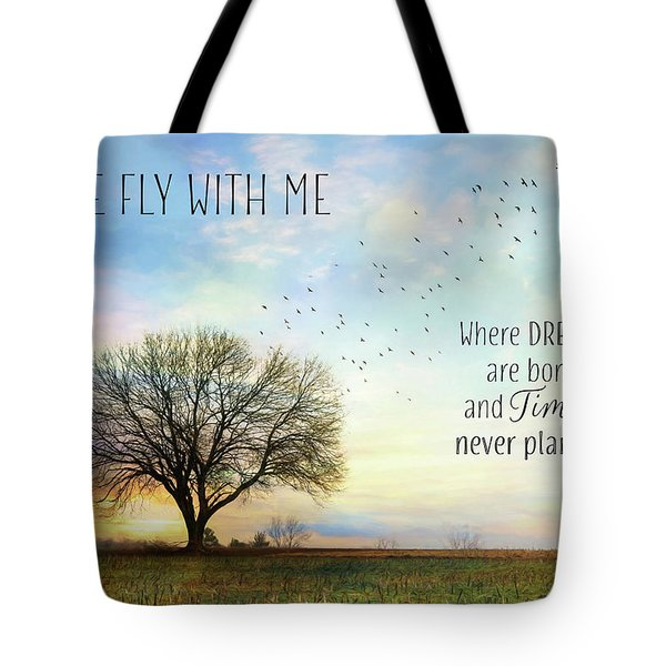 Tote Bag featuring the photograph Come Fly With Me by Lori Deiter