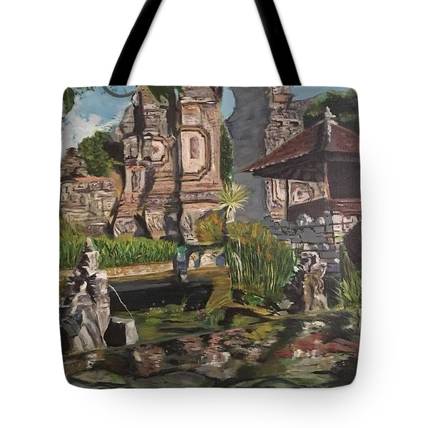 Tote Bag featuring the painting Come Into My World by Belinda Low