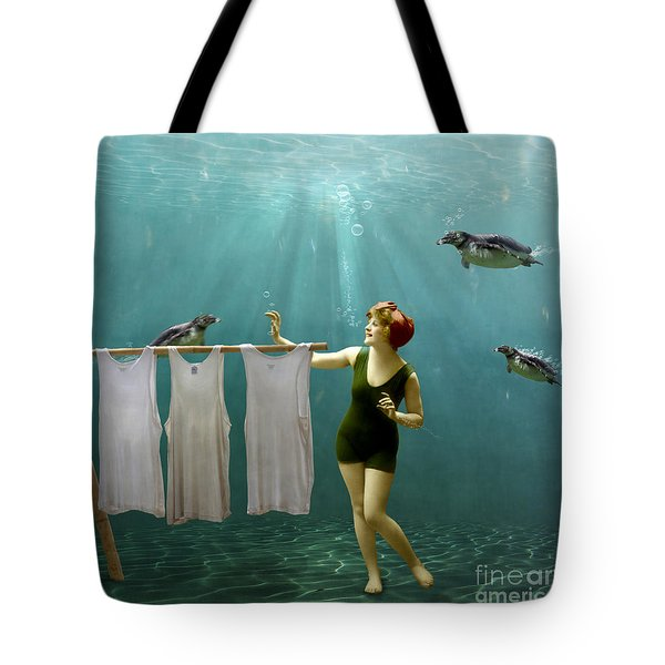 Come On Darlings It's Almost Dry Tote Bag by Martine Roch