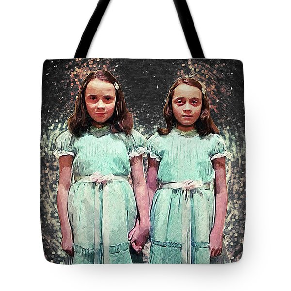 Come Play With Us - The Shining Twins Tote Bag by Taylan Apukovska