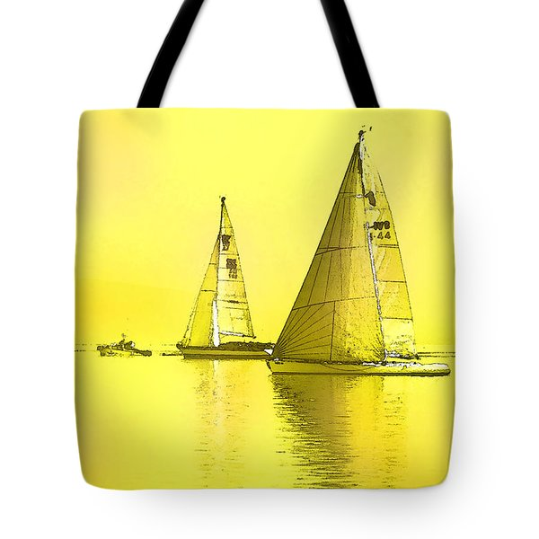 Tote Bag featuring the digital art Come Sail Away by Shelli Fitzpatrick