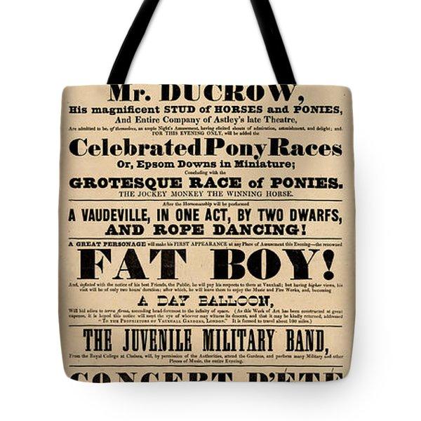 Come See The Fat Boy Tote Bag
