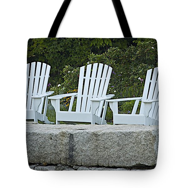 Come Sit A Spell Tote Bag by Faith Harron Boudreau