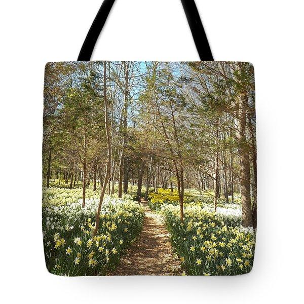 Come Walk Among The Daffodils Tote Bag