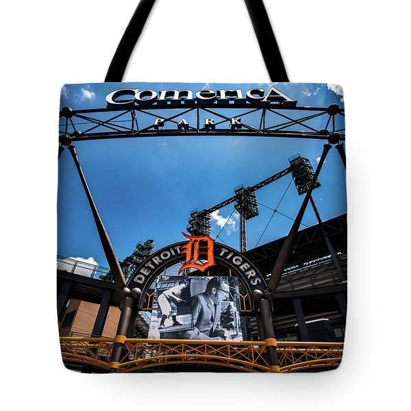 Tote Bag featuring the photograph Comerica Park by Onyonet  Photo Studios