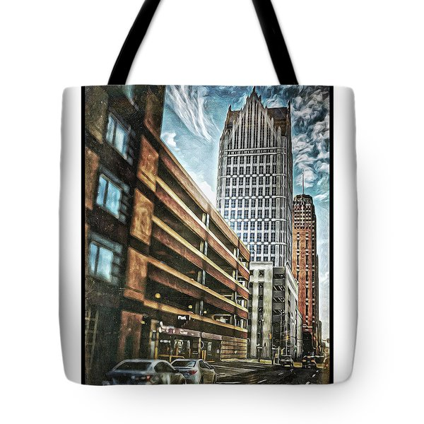 Comerica Tower Tote Bag by Donald Yenson