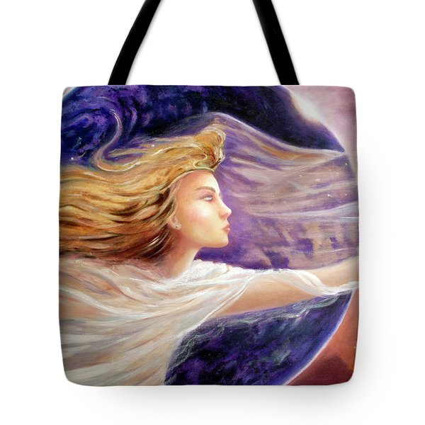 Comet Dreamer Voyage  Tote Bag by Michael Rock