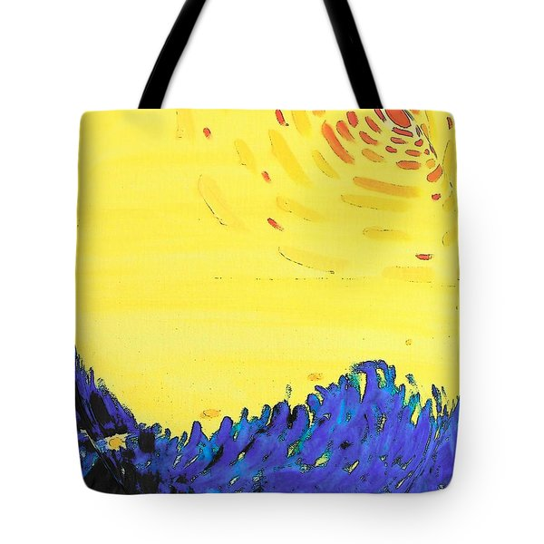 Tote Bag featuring the painting Comet by Lenore Senior