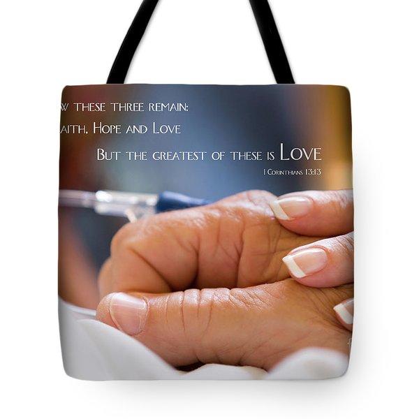 Comforting Hand Of Love Tote Bag