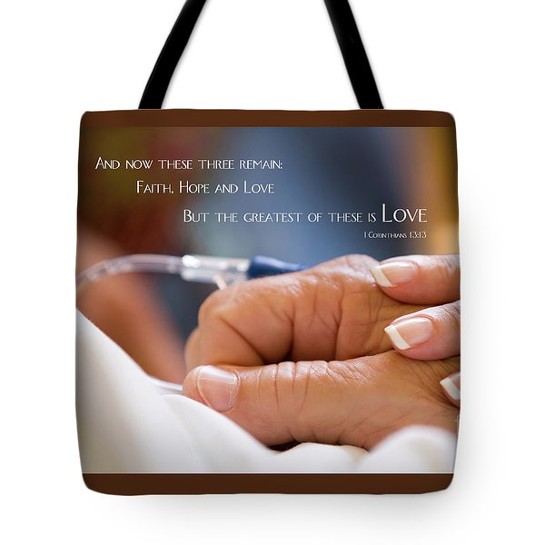 Tote Bag featuring the photograph Comforting Hand Of Love by Steven Frame