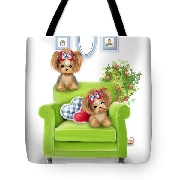 Tote Bag featuring the painting Comfy Chair by Catia Lee
