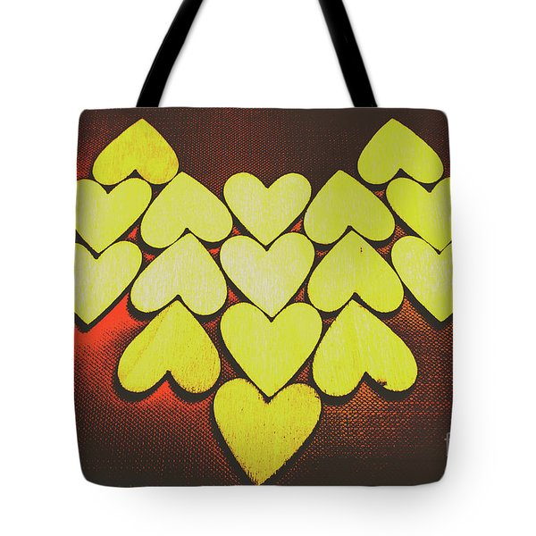 Comic Art Hearts Tote Bag