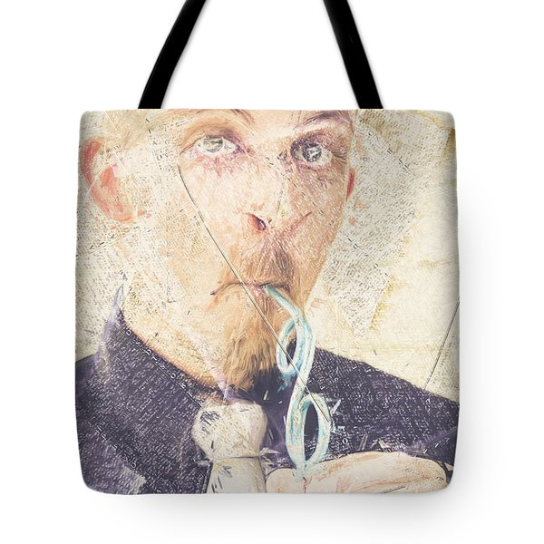 Tote Bag featuring the digital art Comic Soda Poster by Jorgo Photography - Wall Art Gallery
