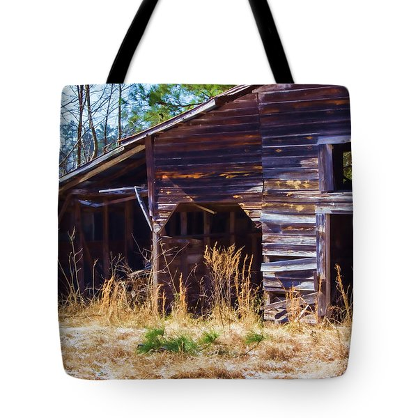Coming Apart With Character Barn Tote Bag