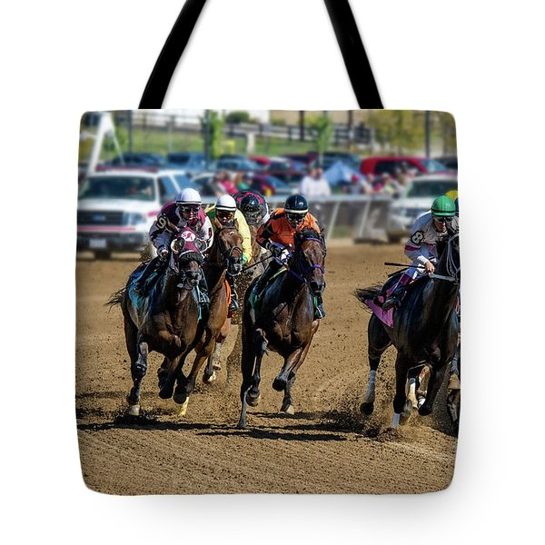 Coming Around The Turn Tote Bag