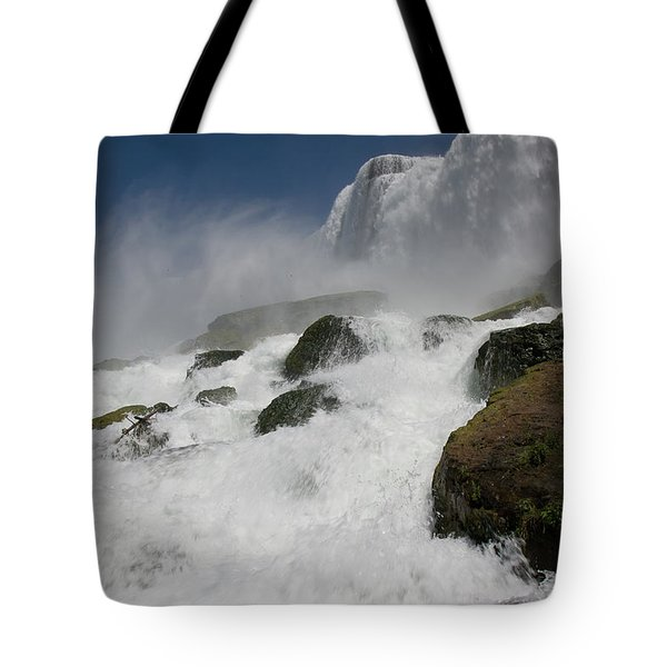 Tote Bag featuring the photograph Coming Close To Niagara Falls by Jeff Folger