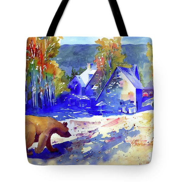Coming For Dinner At Rainbow Lodge Tote Bag
