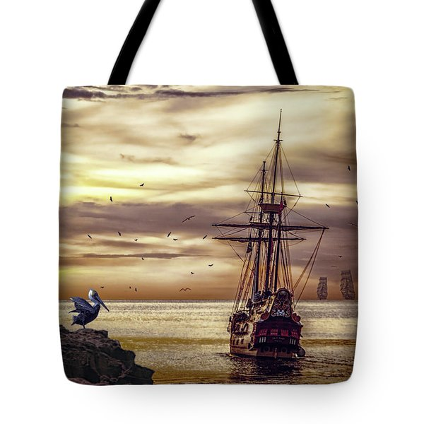 Tote Bag featuring the photograph Coming Home by Diane Schuster