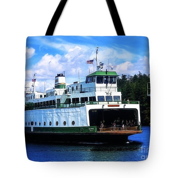 Coming Into Port Tote Bag by Nancy Marie Ricketts