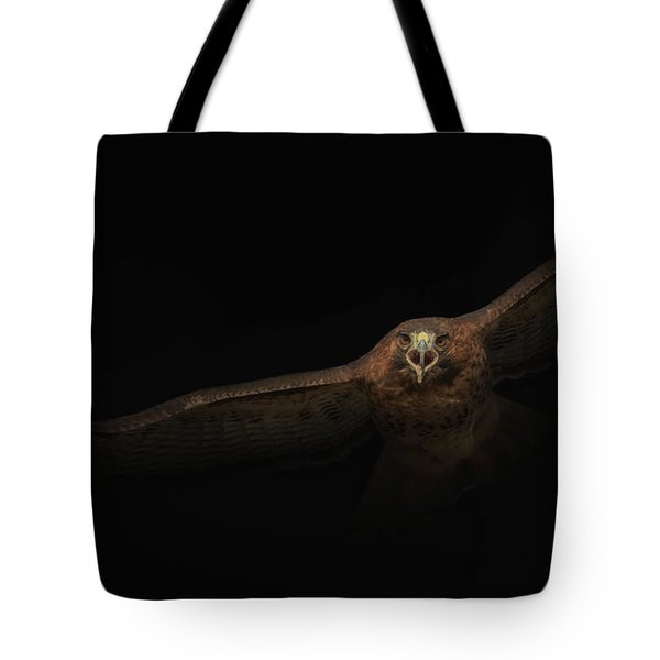 Tote Bag featuring the photograph Coming Out Of The Dark by Angie Vogel