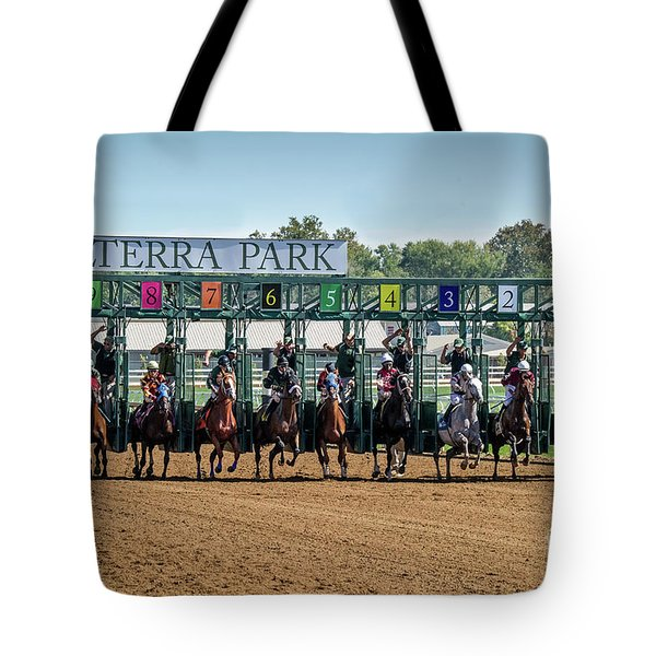 Coming Out Of The Gate Tote Bag