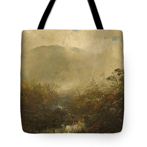 Coming Storm In The Adirondacks Tote Bag by William Sonntag