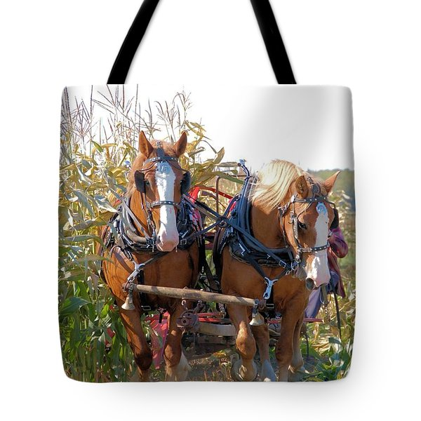 Coming Through The Corn Tote Bag by Valerie Kirkwood