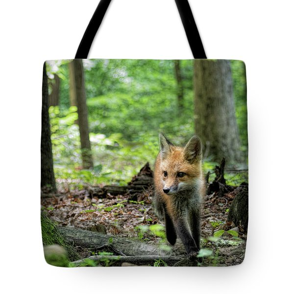 Coming Through The Woods Tote Bag