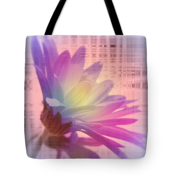 Coming To Life Love Notes Mirror Tote Bag