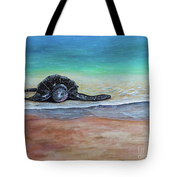 Coming To Nest Tote Bag by Laura Forde