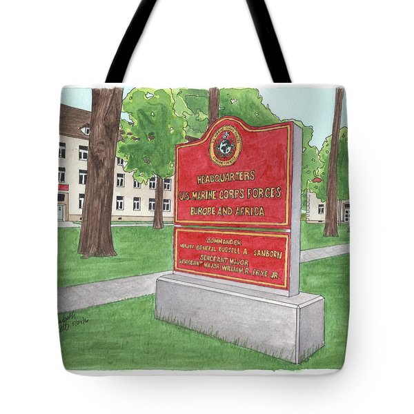 Tote Bag featuring the painting Commander Major General Russell A. Sanborn - Marforeuraf by Betsy Hackett