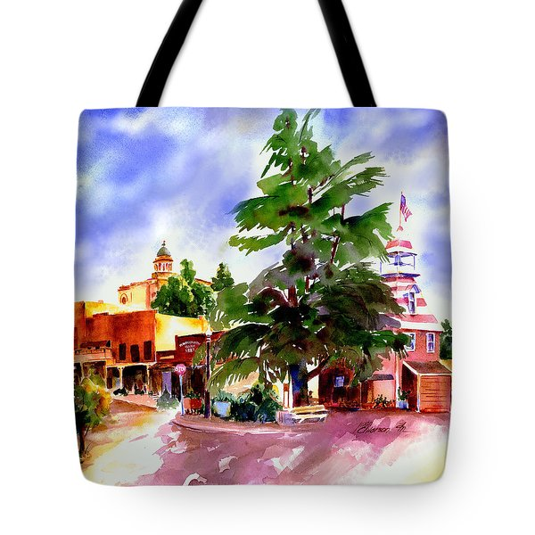 Commercial Street, Old Town Auburn Tote Bag