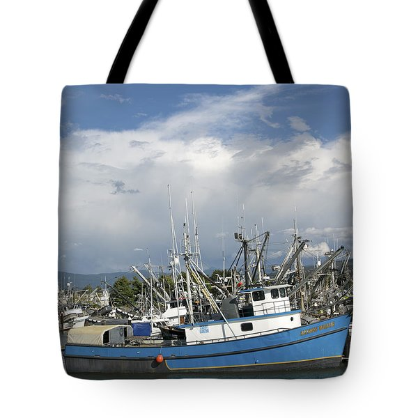 Tote Bag featuring the photograph Commerical Fishing Boats by Elvira Butler