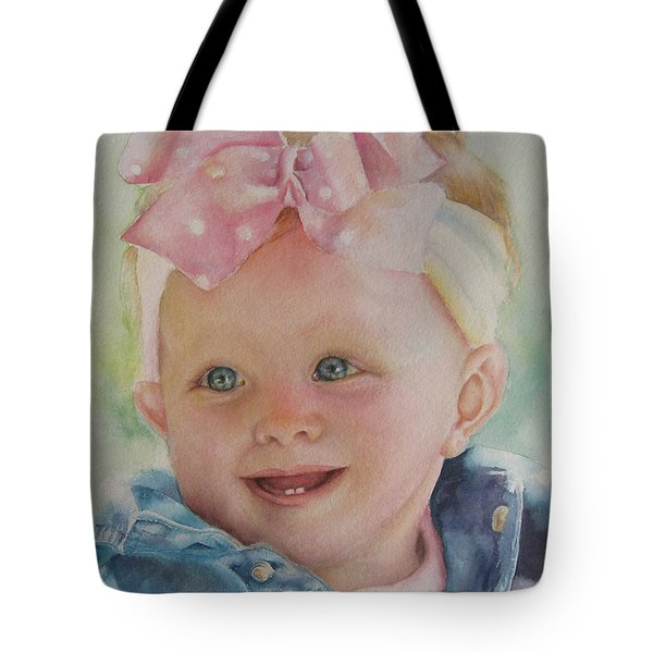 Commissioned Toddler Portrait Tote Bag