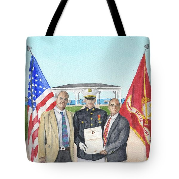 Tote Bag featuring the painting Commissioning by Betsy Hackett