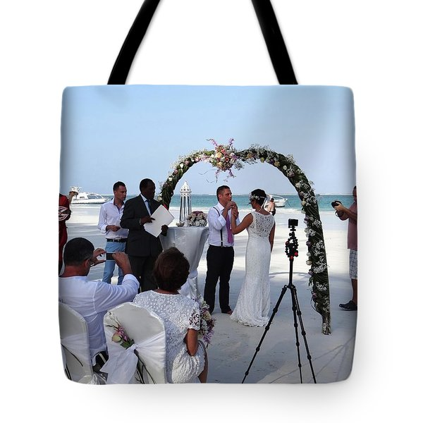 Commitment On The Beach In Kenya Tote Bag
