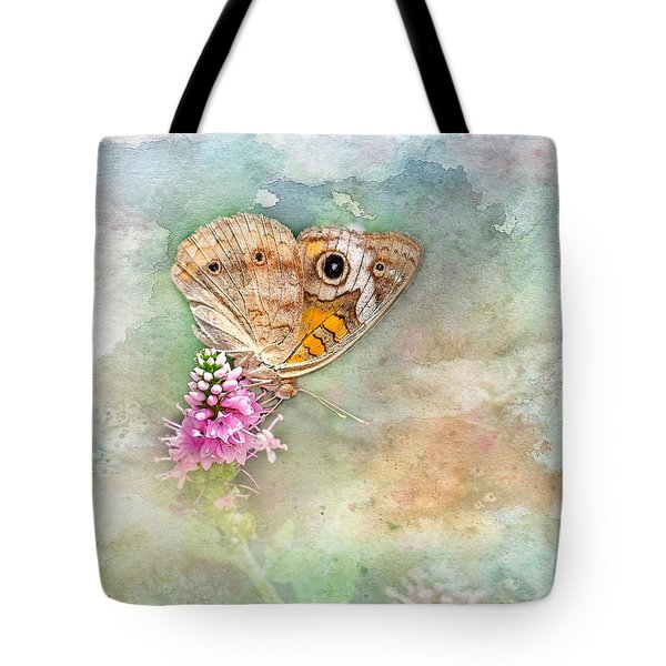 Tote Bag featuring the photograph Common Buckeye by Betty LaRue
