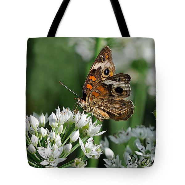 Common Buckeye Butterfly Tote Bag by Diane Giurco