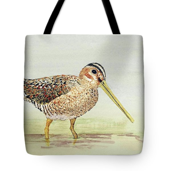 Common Snipe Wading Tote Bag