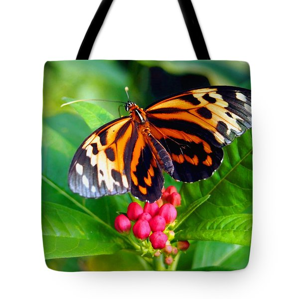 Common Tiger Glassywing Butterfly Tote Bag